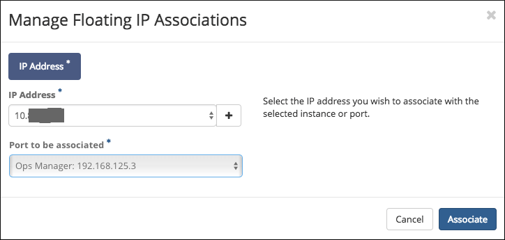 Floating ip assign