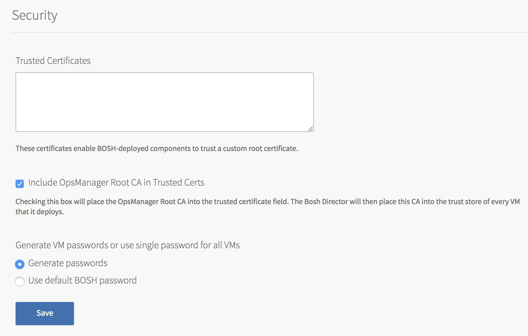 Configuring BOSH Director on AWS Using Terraform   Pivotal Docs