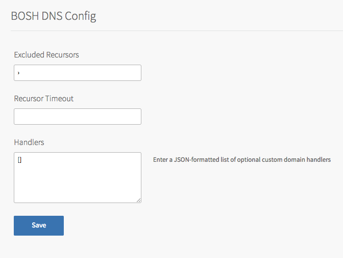 Configuring BOSH Director on AWS | Pivotal Docs