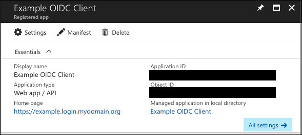 Configure Azure Active Directory as an OIDC Identity