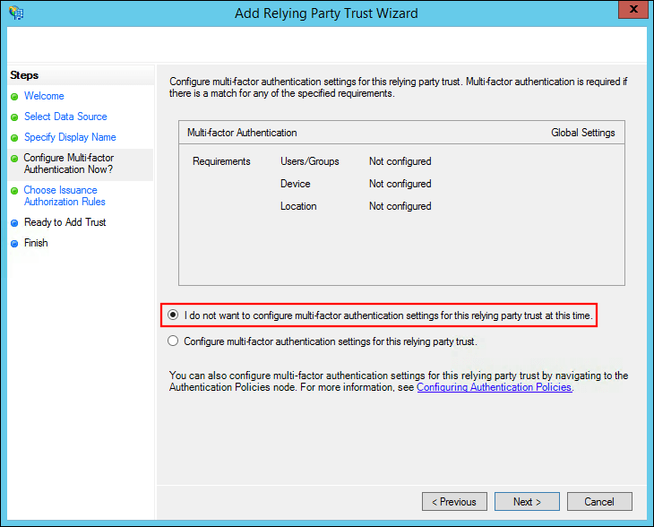 Configuring Active Directory Federation Services as an