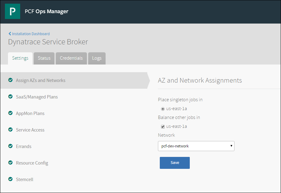 Installing and Configuring the Dynatrace Service Broker