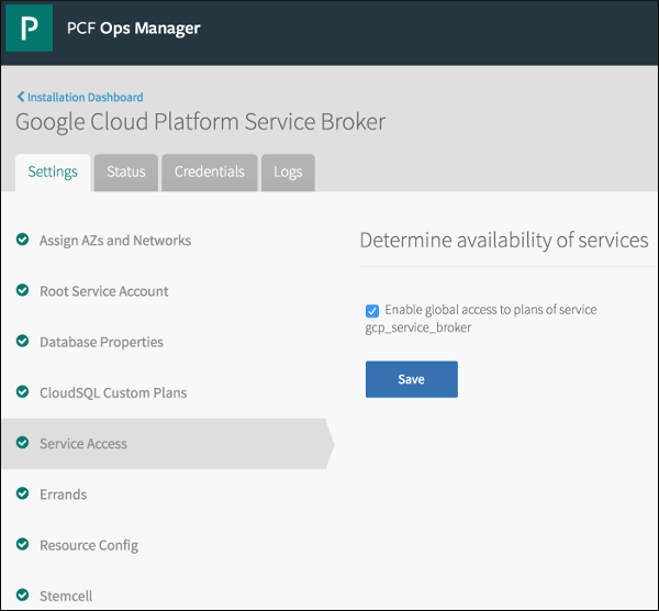 Installing and Configuring GCP Service Broker   Pivotal