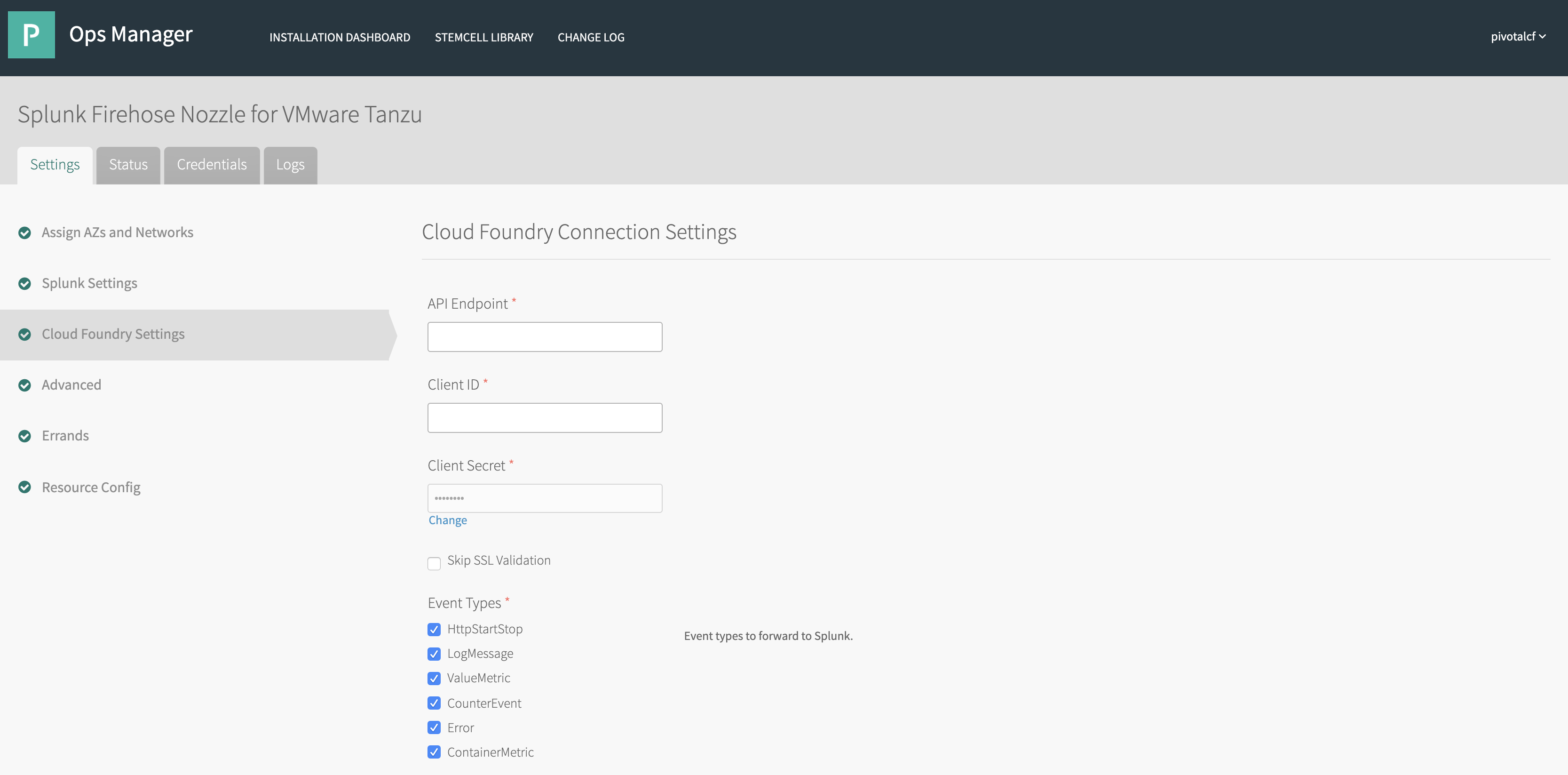 Installing and Configuring Splunk Firehose Nozzle for PCF | Pivotal