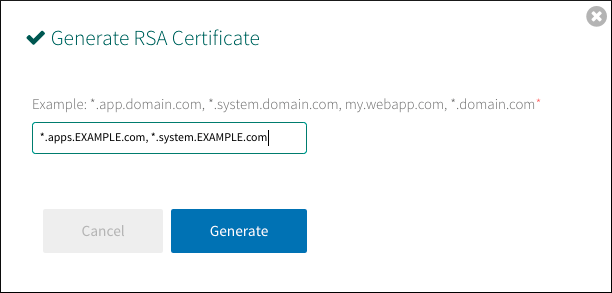 Providing a Certificate for Your TLS Termination Point
