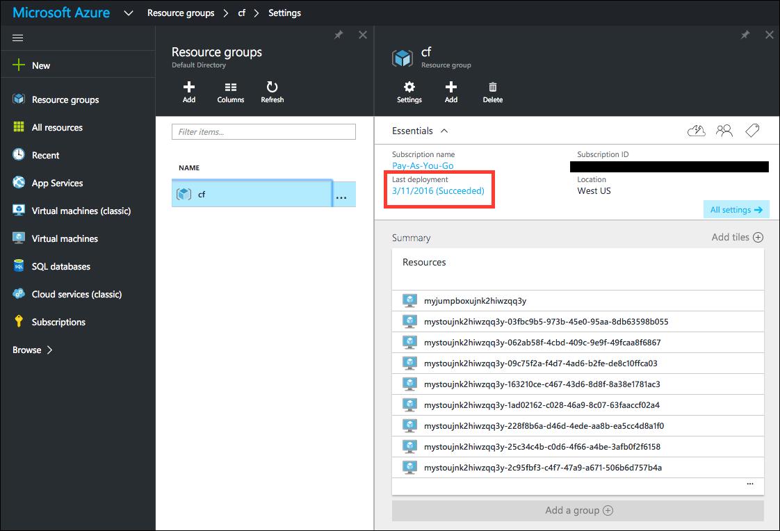 Installing PCF on Microsoft Azure | Pivotal Docs