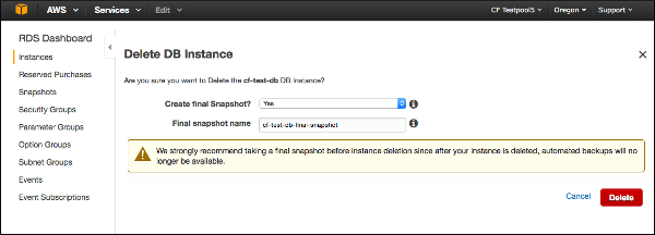 Deleting PCF from AWS | Pivotal Docs