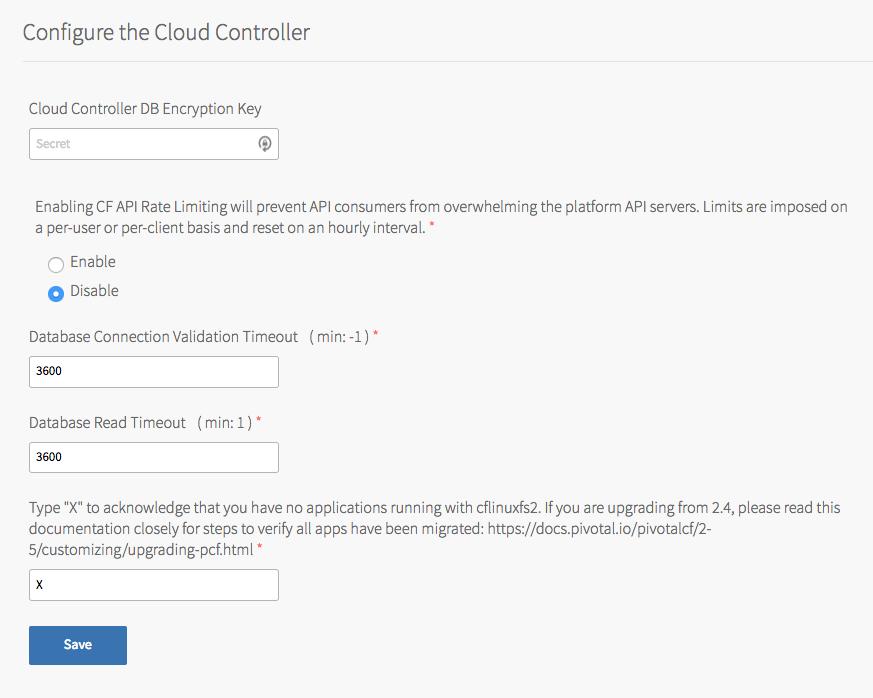 Configuring PAS | Pivotal Docs