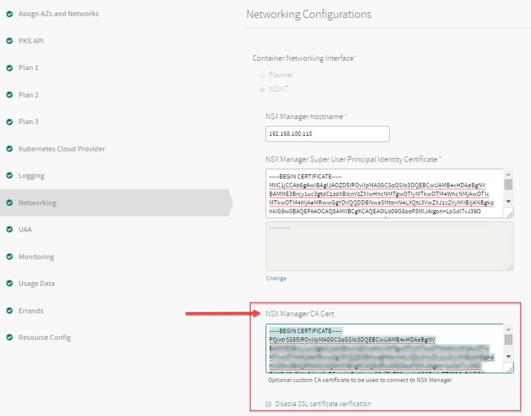 Generating and Registering the NSX Manager Certificate for