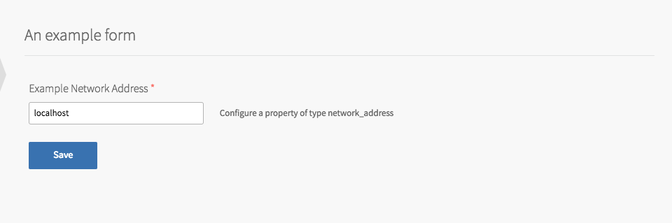Example Product with Network Address
