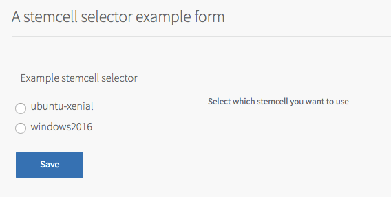 Example Stemcell Selector