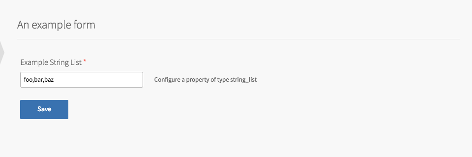 Example Product with String List