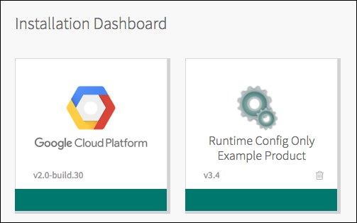 Runtime Config Tile on the Ops Manager Installation Dashboard