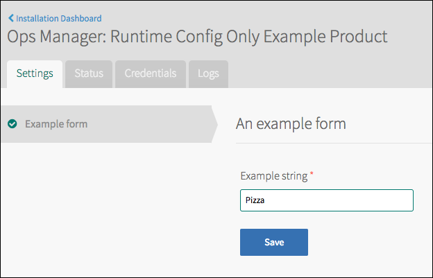 Runtime Config Tile Information