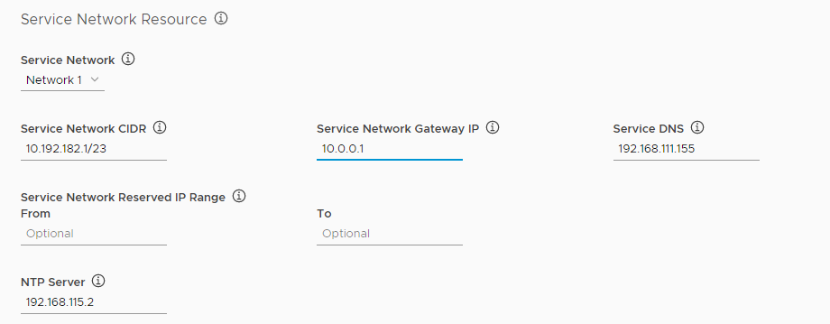 Flannel service network configuration