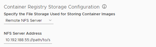 Configure NFS for Harbor registry