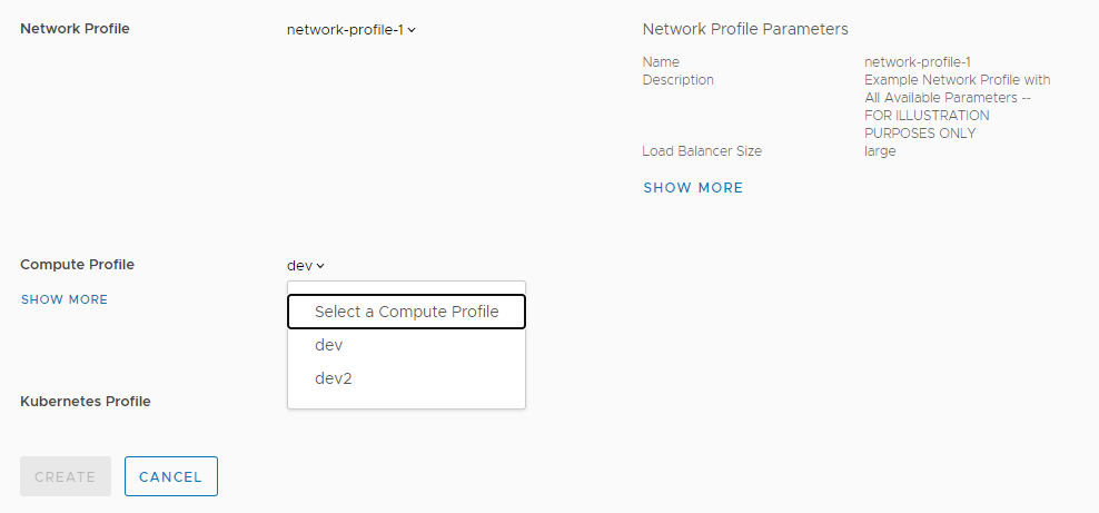 Network profile