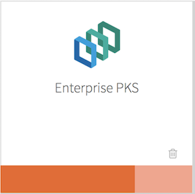 Pivotal Container Service tile on the Ops Manager installation dashboard