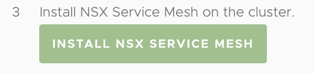 Tanzu Service Mesh Enter Cluster Name and Generate Token